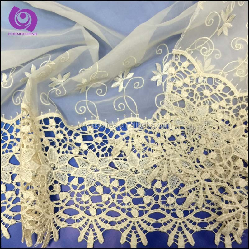Fancy Embroidered (EMB) Design Voile Curtain Fabrics, Curtains Made in China