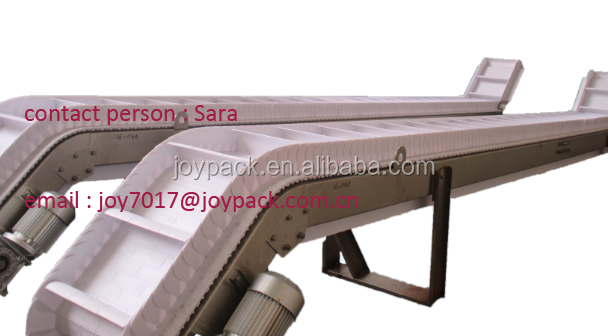 inclined scale conveyor for potato chips
