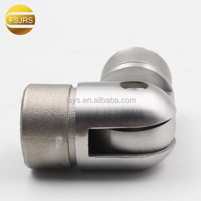 Конструкция из нержавеющей стали, фитинг для перил, соединитель для труб, Круглый Угловой соединитель для труб, Круглый Вставной соединитель для труб