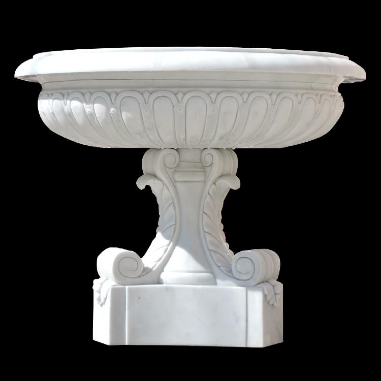 Home gardening balcony big design marble ornamental flowerpot