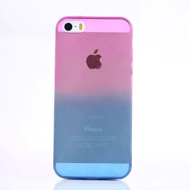 d16800ca56 Ultrathin changing colors cover for iPhone 5S case anti knock fashion 5  colors mobile phone protection case