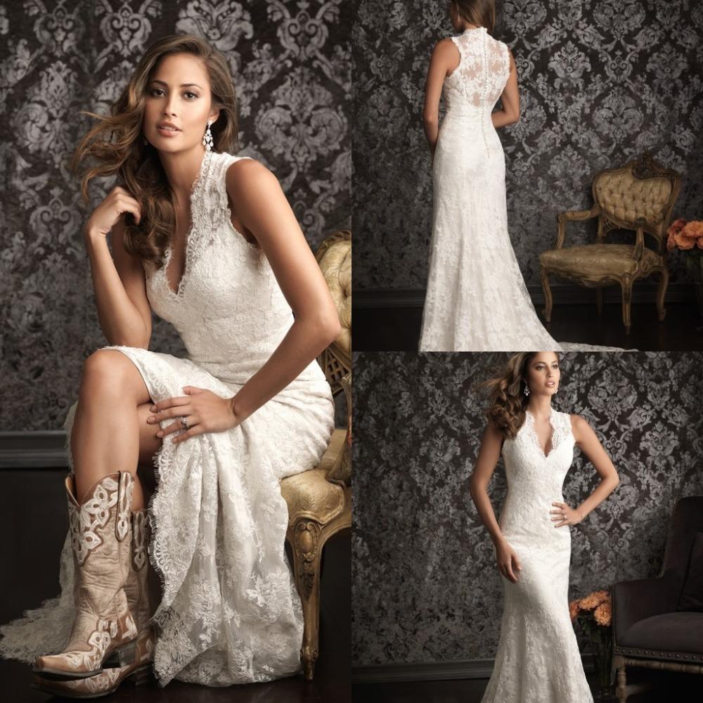 Spanish Lace Wedding Gown: 2015 Spanish Lace Wedding Dresses Country Western Vestidos