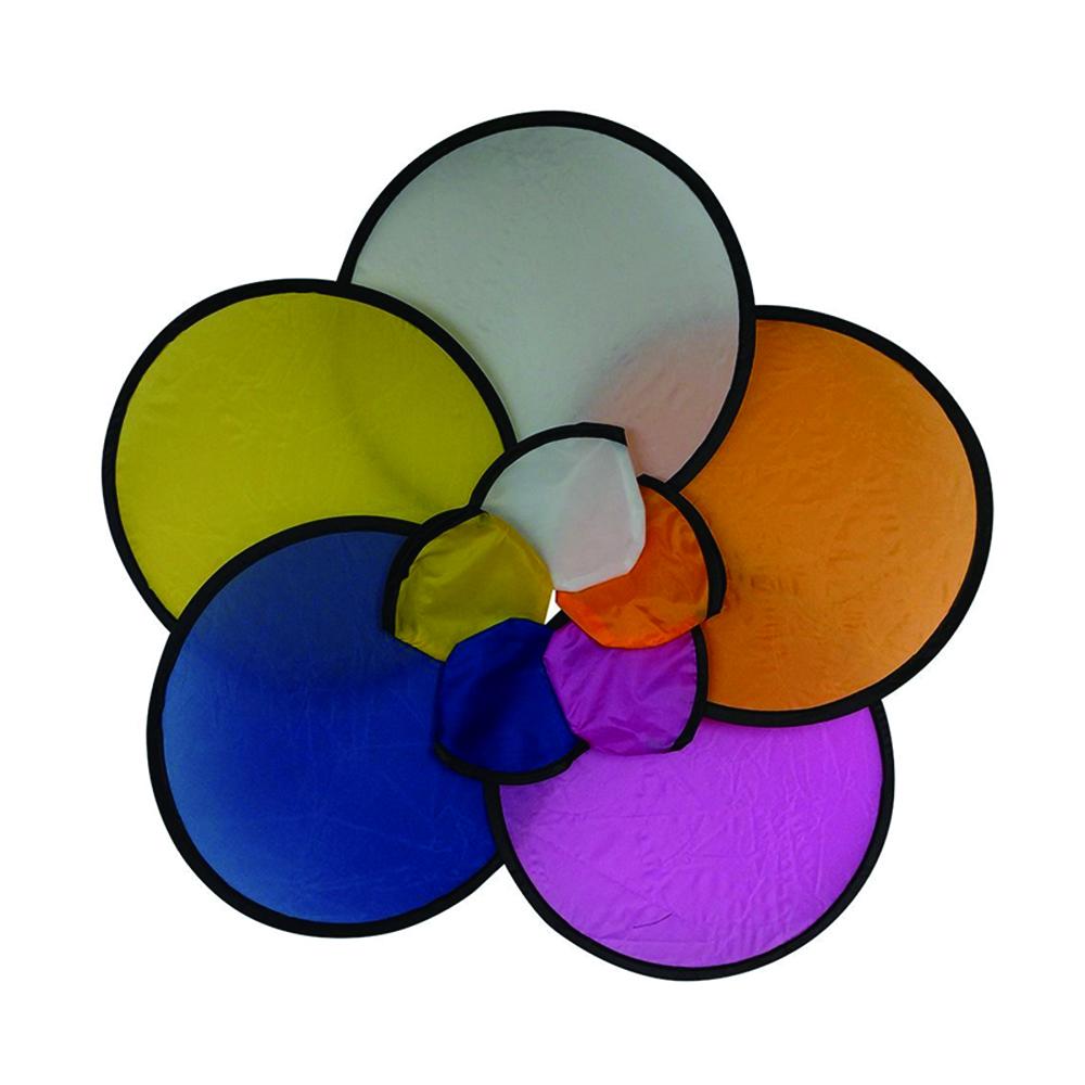 Custom Fancy sublimation design round shape nylon foldable hand disc fan
