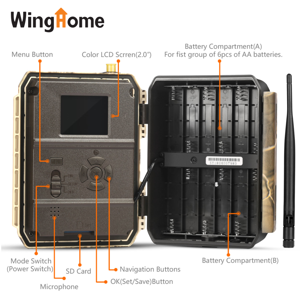 12mp APP night vision outdoor waterproof game trail camera 3g