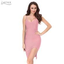 Женское вечернее платье ADYCE, белое облегающее платье миди с оборками, коротким рукавом и V-образным декольте в стиле звезд, для клуба, для лет...(Китай)