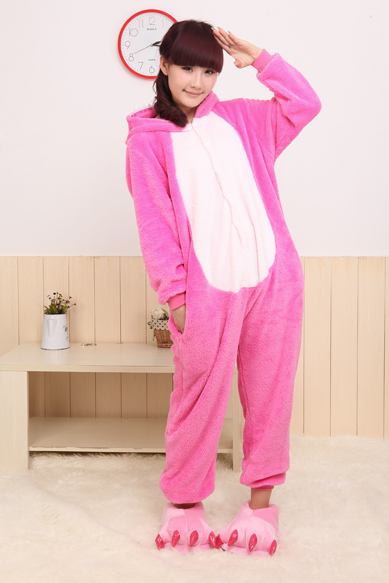 2015 Animal Blue Pink Stitch Onesie Adult Unisex Cosplay Costume Pajamas  All In One Party Sleepwear For Men Women Adults Cute Group Costumes Adult  Group ... 657b2a49a