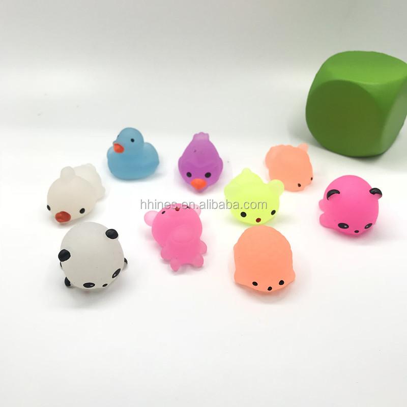 Низкая цена, светящиеся в темноте игрушки-сквиши с животными Mochi