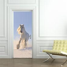 Единорог, белые лошади, олень, дельфин, жираф, тигр, слон, лев, милые забавные 3D Животные, росписи, художественные обои, настенные наклейки на ...(Китай)