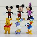 6Pcs Lot 6 8cm Mickey Figure Minnie Mouse Donald Duck Daisy PVC Cute Toys for Children