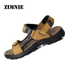 New 2015 Camel Men's Sandals Slippers Genuine Leather Cowhide Sandals Outdoor Casual Men Leather Sandals for Man