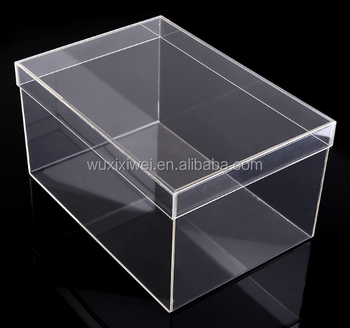Clear Acrylic Display Stand Perspex Sliding Lid Large Cheap Acrylic Boxes