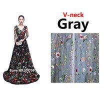 2018 новый дизайн, вечерние платья с вышивкой, длинное высококачественное очаровательное кружевное платье трапециевидной формы с длинными р...(Китай)