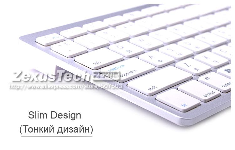 c0f39161da5 Portable Bluetooth 3.0 Wireless Russian Keyboard Layout For Pc ...