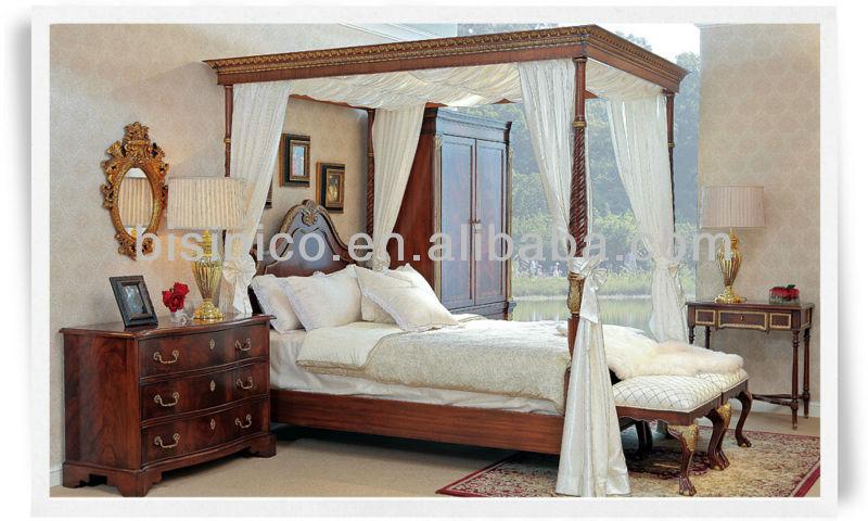 British 18th Century Windsor Style Bedroom Set,Luxury Four