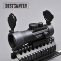 Tactical optics riflescope 3X42 Red Green Dot Sight Scope Fit Picatinny Rail Mount 11 20mm Hunting