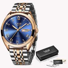 Новинка 2020 LIGE, женские часы розового золота, деловые кварцевые часы, дамские Роскошные Брендовые женские наручные часы, часы для девушек, ...(Китай)