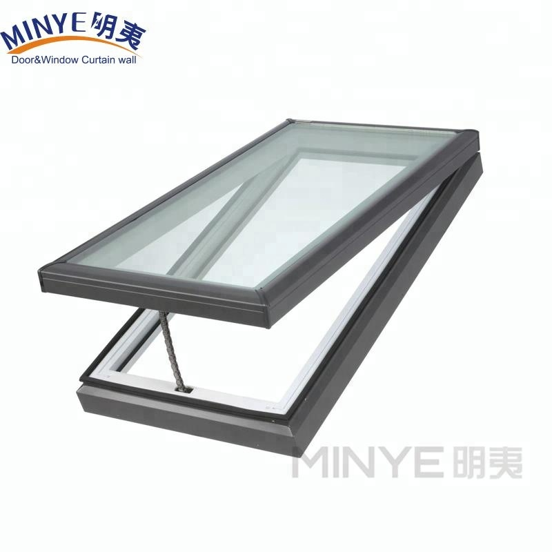 Алюминиевое окно на крыше