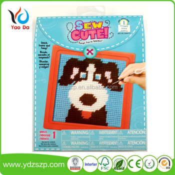 New creative children DIY cross stitch craft set for children