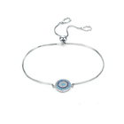 Wholesale turkish evil eye pave setting Silver 925 Sterling adjustable bracelet turkish jewelry
