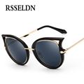 RSSELDN Fashion Retro Metal Frame Cat Eye Sunglasses Women Coating Brand vintage sun glasses female oculos
