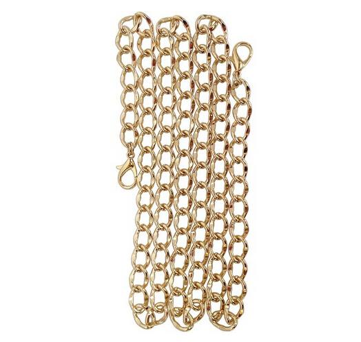 Сменная цепочка Curbed Link 120 см для сумок, сумок, кошельков, латунных тонов или никелевых тонов