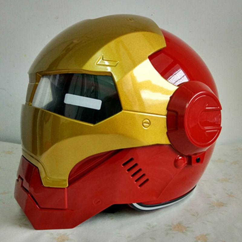 masei ironman iron man helmet motorcycle helmet half helmet open face helmet casque motocross. Black Bedroom Furniture Sets. Home Design Ideas