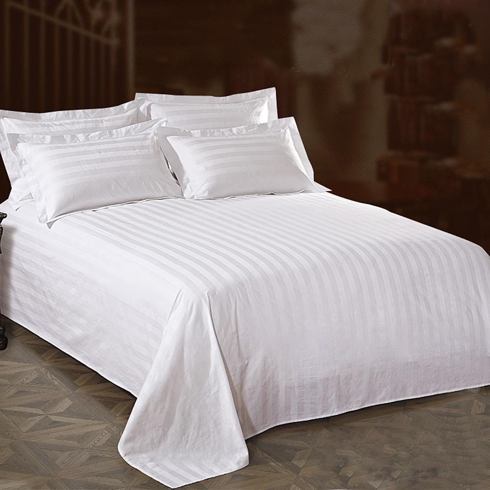 100% хлопок, сатин, полоса, устойчивость к морщинам, использованная гостиничная ткань для постельного белья