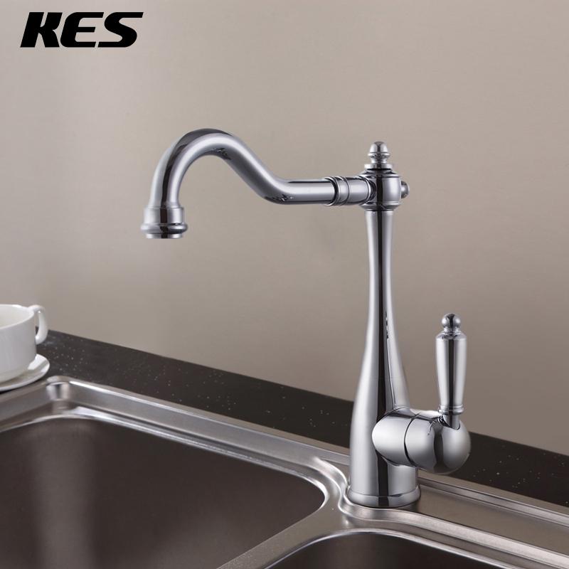 High Spout Bathroom Faucet: KES L3133 Classic Single Handle High Arc Kitchen Sink