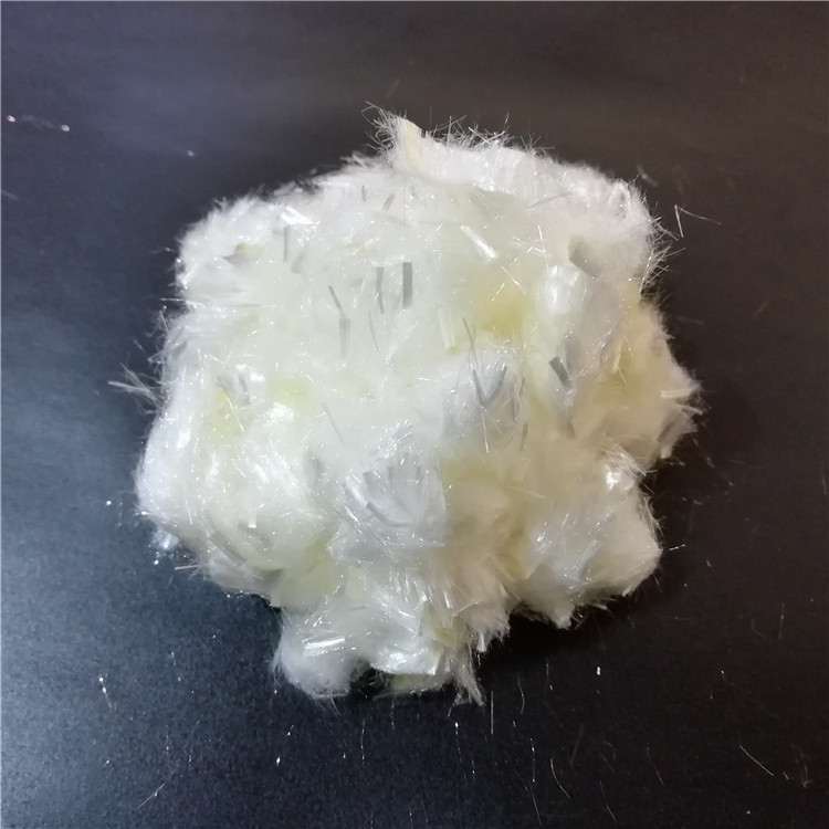 acrylic fiber top for concrete light yellow 12mm PAN fiber producer with competitive price