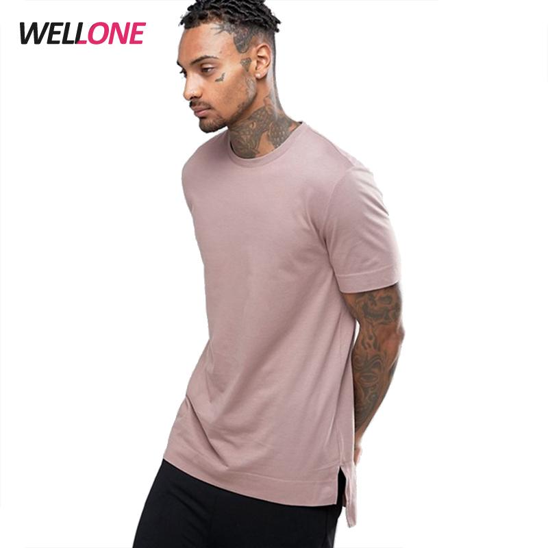 Custom Printing Blank Streetwear Fashion Side Slits Longline 100% Cotton Man T-shirt Create Your Own Brand Clothing - Buy Create Your Own Brand ...