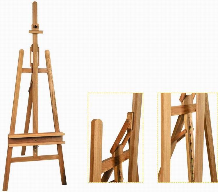 Высококачественный студийный мольберт из Букового дерева Hiqh, античный деревянный мольберт