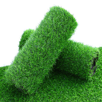 Shininglife high quality dense grass artificial turf for football playground lawn decoration