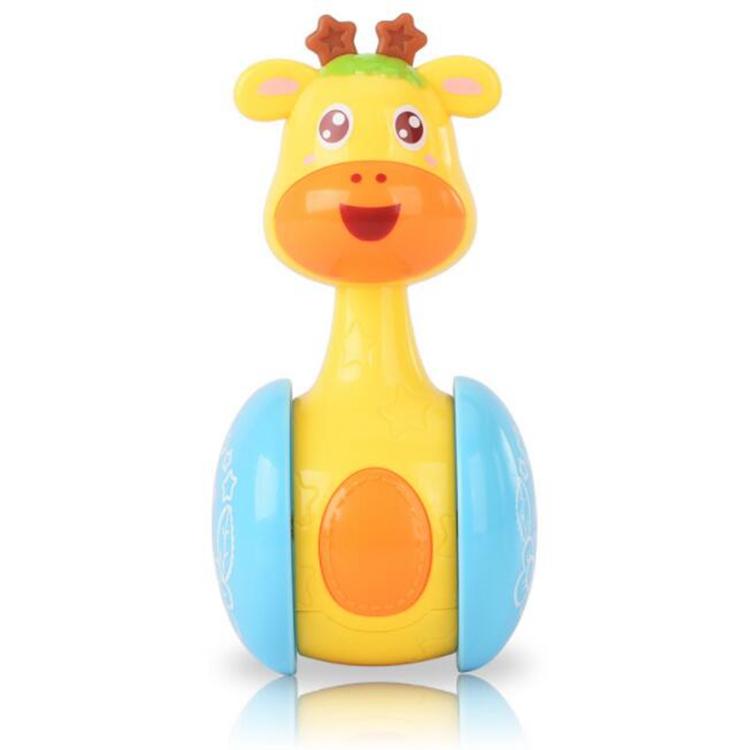 Amazon hot sell high quality non-toxic custom giraffe tumbler toy