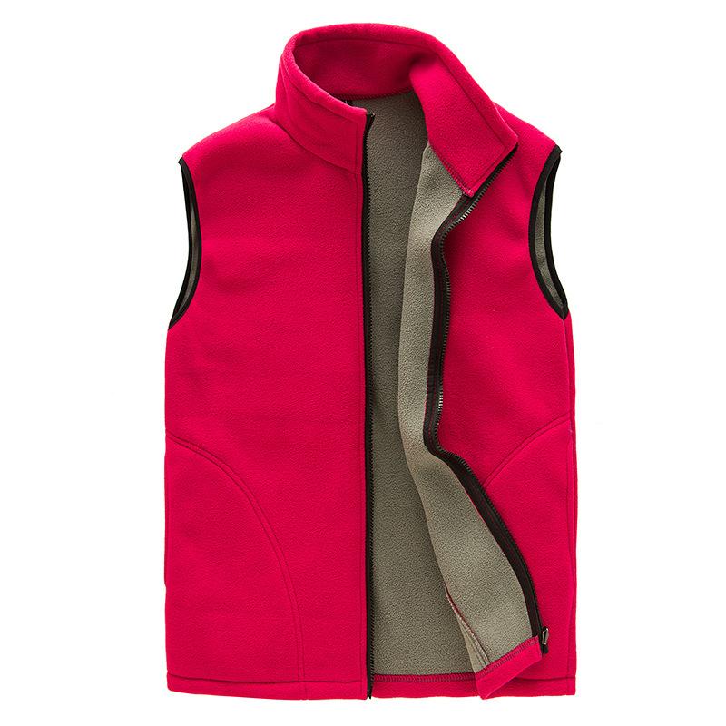 Stock Women's Men's Anti Pilling Polar Fleece Vest Jacket Waistcoat Custom Embroidery Logo Volunteer Vest for Workers