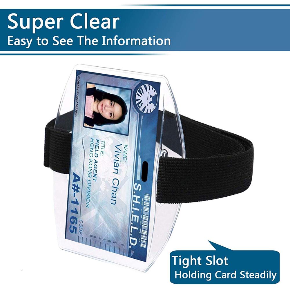 Прозрачный ПВХ активности спортивная безопасности чехол для телефона на руку удостоверение личности значок карман для удостоверения личности