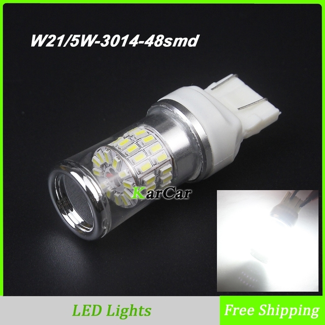 buy 2x w21 5w 48smd 3014 chip car tail. Black Bedroom Furniture Sets. Home Design Ideas