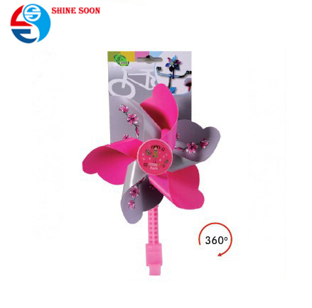 Beautiful flower toy windmill plastic windmill toy for kids