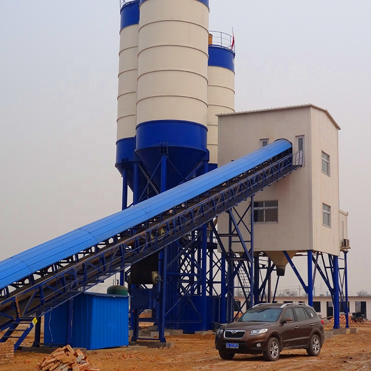Hot Sale HZS120 energy Saving Ready-Mixed Precast Concrete Batching Plant For Construction