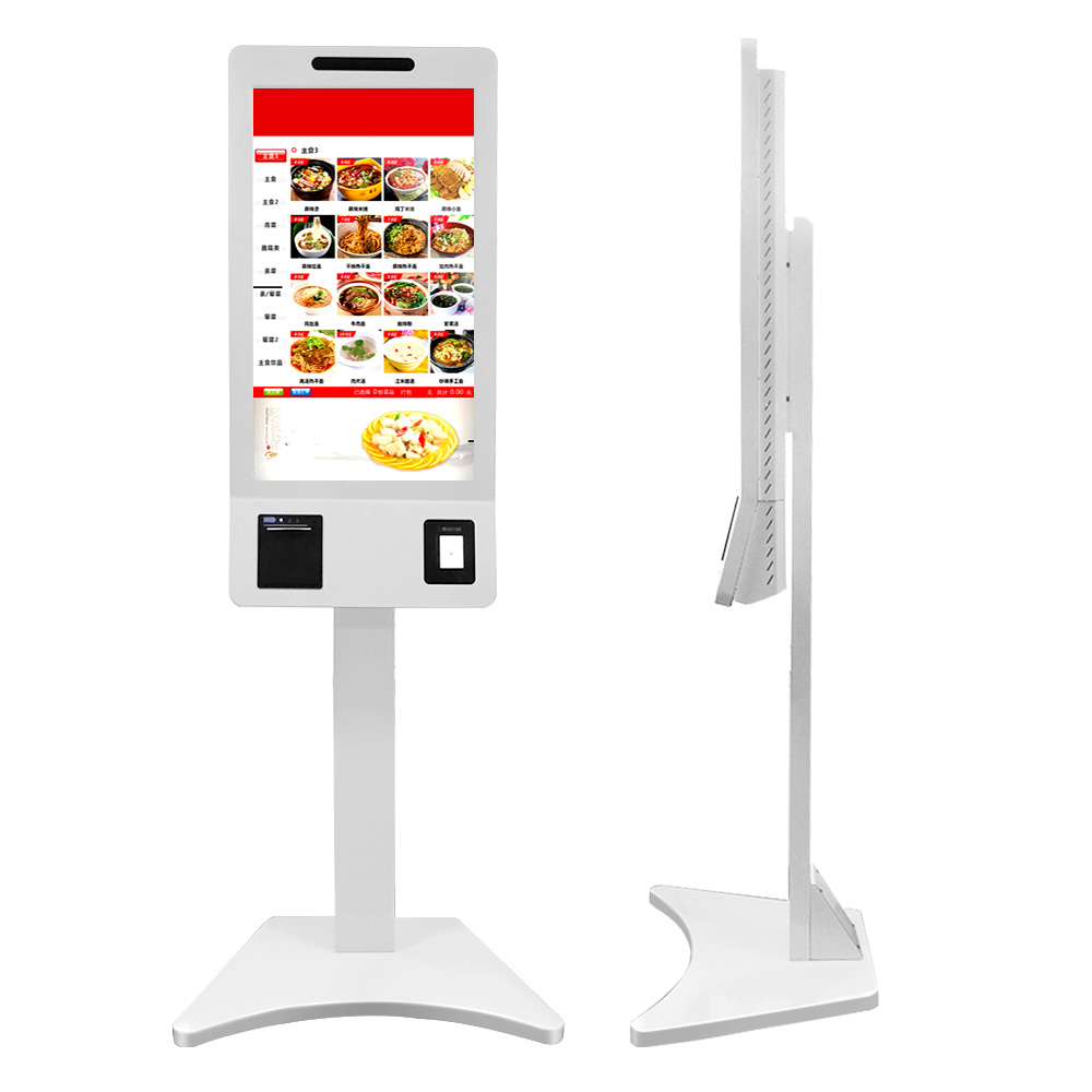Aiyos 32 inch Automatic Ordering Self Service Touch Screen Ticket Bill Payment Kiosk With Thermal Printer Cinema