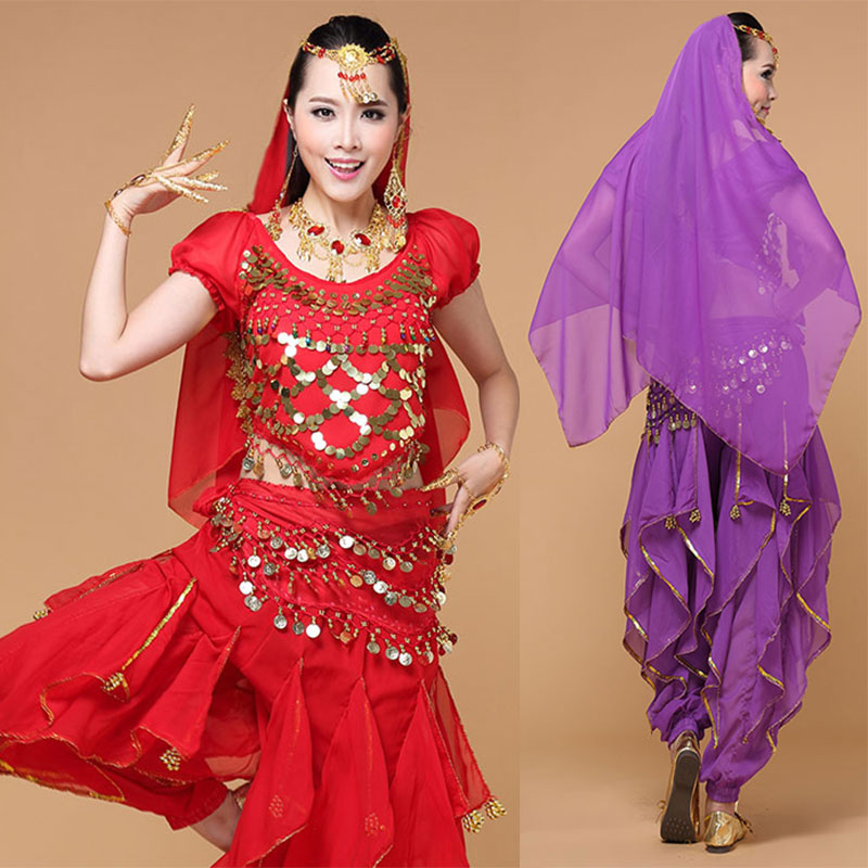 4pcs Belly Dance Costume Bollywood Costume Gypsy Indian ...