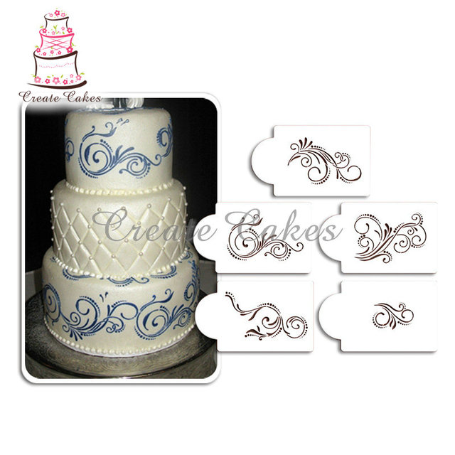 Cake Decoration Scroll Moulds
