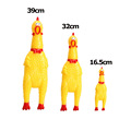 3 Sizes Funny Gadgets Novelty Yellow Rubber Dog Toy Fun Novelty Squawking Screaming Shrilling Chicken Toy