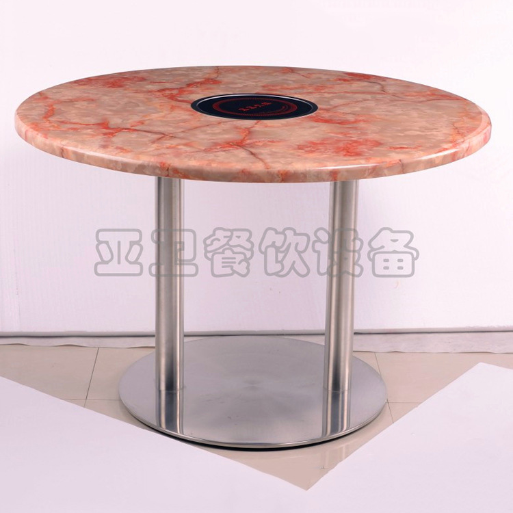 Dining Table Manufacturers: [Hotel] AsiaSat Marble Wood Dining Table Pot Single
