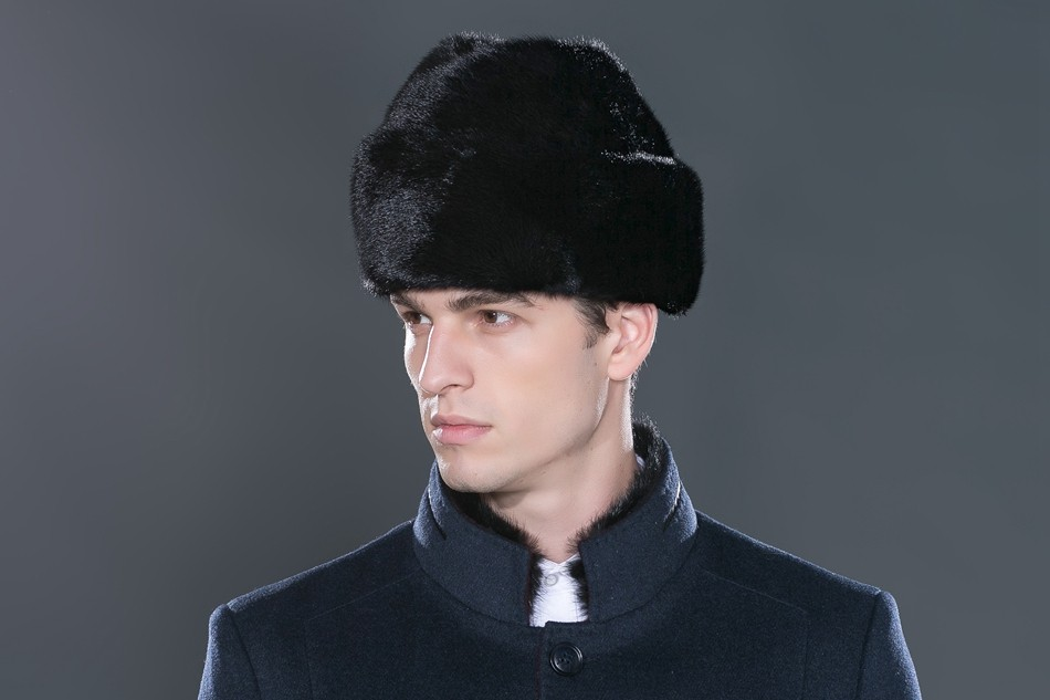 b658bf4438e Detail Feedback Questions about New 100% Mink Fur Hats For Men ...