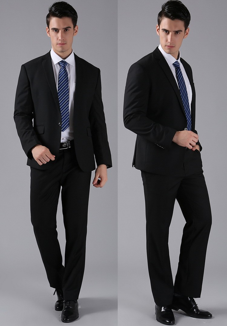 (Kurtki + Spodnie) 2016 Nowych Mężczyzna Garnitury Slim Fit Niestandardowe Garnitury Smokingi Marka Moda Bridegroon Biznes Suknia Ślubna Blazer H0285 11