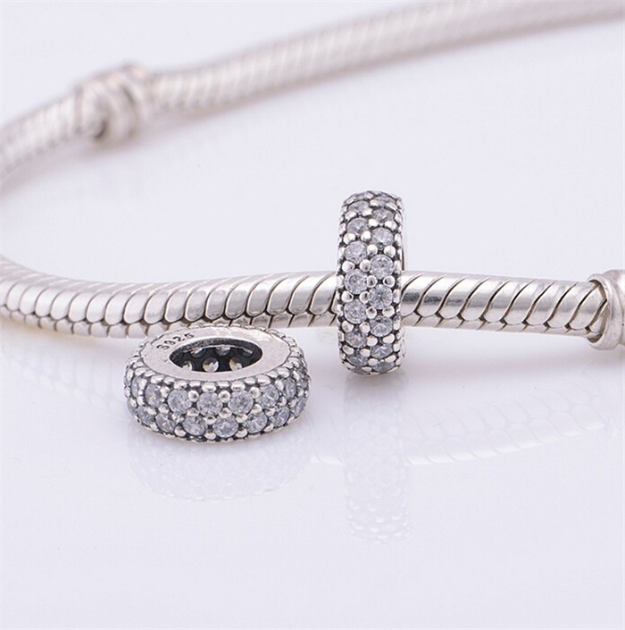 Pandora Jewelry Free Shipping: Fits Pandora Charms Bracelet 925 Sterling Silver Spacer