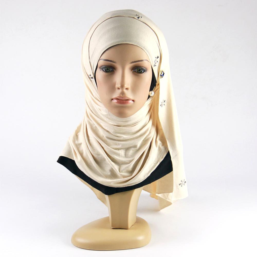 2019 хиджаб трендовый шарф женские шали Джерси Хлопок мусульманский хиджаб для шарфа женский хиджаб