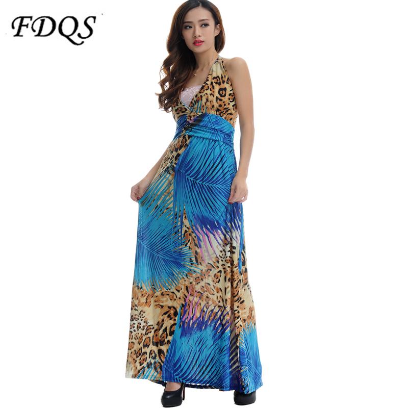 Summer Dress 2016 Bohemian Plus Size Sexy Halter Beach ...