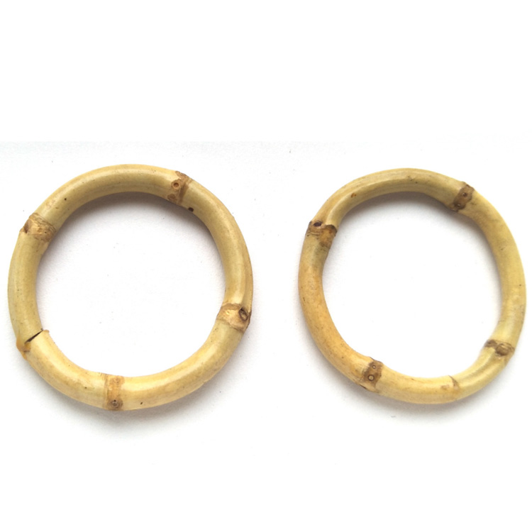 eco friendly 50mm round shape natural bamboo ring buckle for handbag
