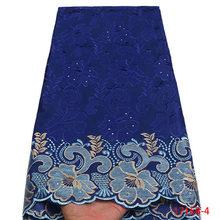 Швейцарская вуаль, швейцарская кружевная ткань высокого качества для мужчин, в нигерийском стиле, из хлопка, с камнями, XY1716B-2(Китай)